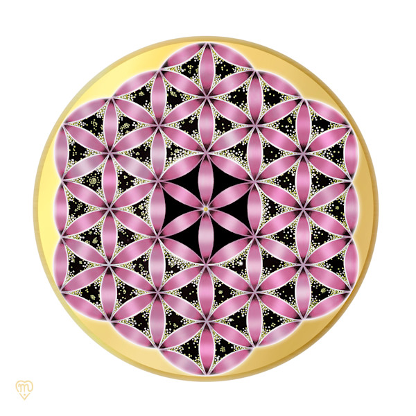 Flower of Life - Pink-White