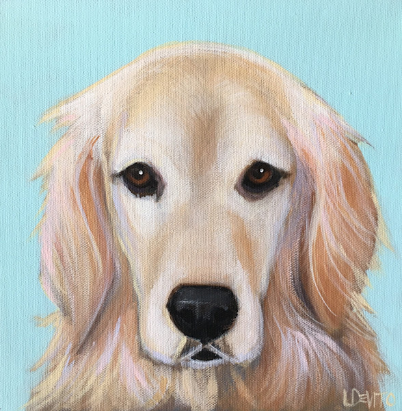 Lesli DeVito contemporary custom pet portraits from photos