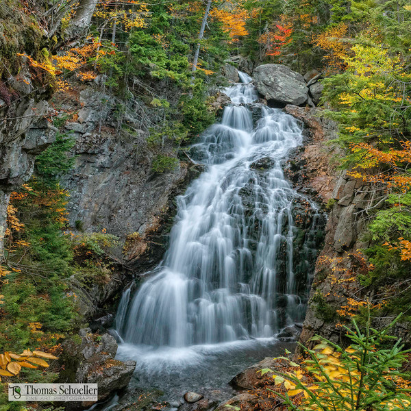 Crystal Cascades Pinkham Notch NH/Tuckerman Ravine waterfall Fine Art photography square format prints