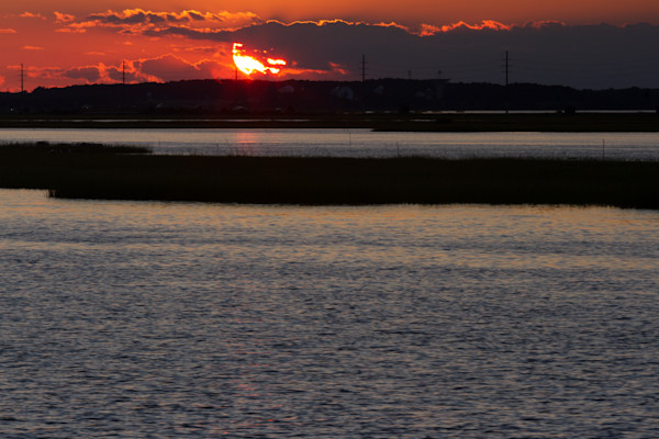 A Fine Art Photograph of a Chincoteague Romantic Sunset by Michael Pucciarelli