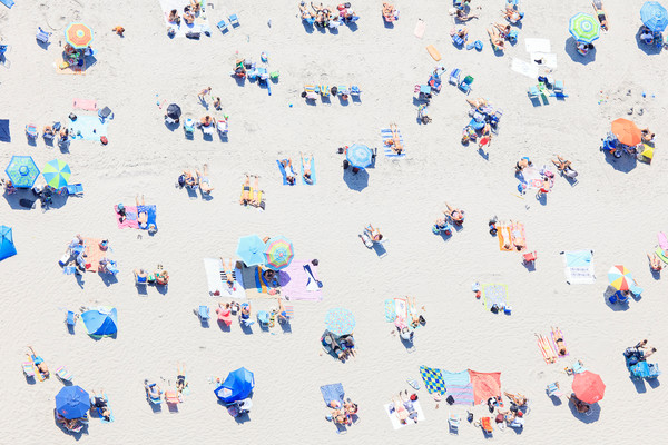 """Beach Confetti"" Newport RI Aerial Beach Photography"