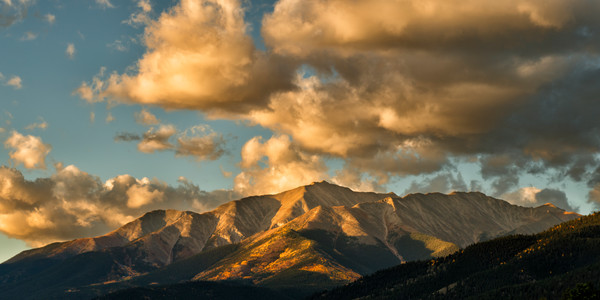 Mt Princeton with morning sun on the autumn color.