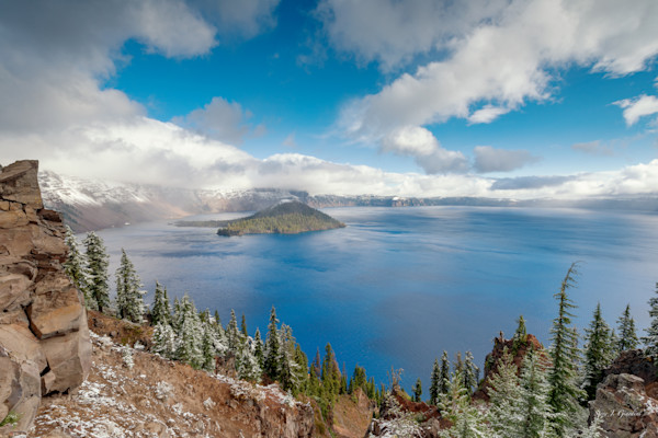 Crater Dusting (161541LND8) Wizard Island Photograph for Sale as Fine Art Photo Print