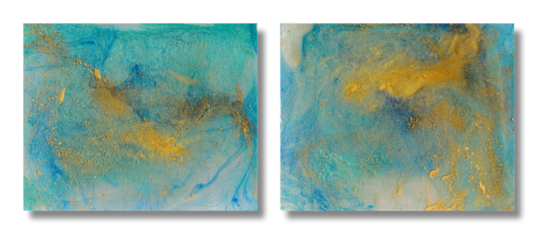 Diptych of Two Paintings - Work in Series - Morning Meditation and Mystical Ecstasy - Douglas Fischer Art