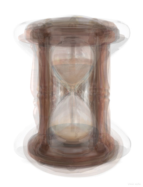 Overlay art – contemporary fine art prints of an hourglass