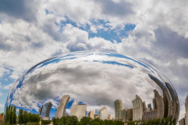 Michigan Avenue Reflection, Chicago, Illinois, USA