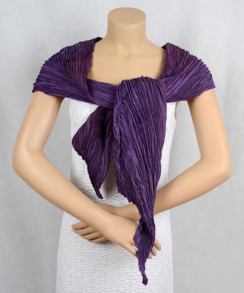 Ripple Scarf in Purple