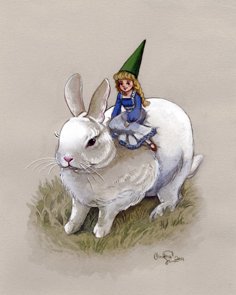 Lady Gnome and the White Rabbit