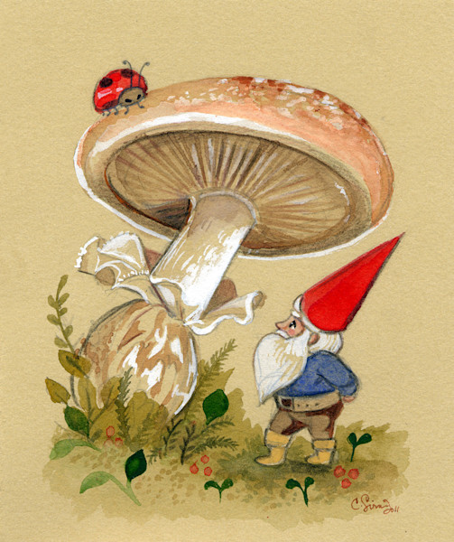 Gnome Espies a Ladybug