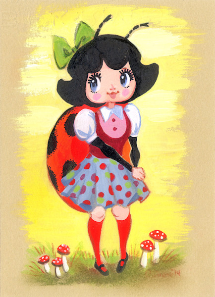 """Spotty"" the Ladybug Girl"