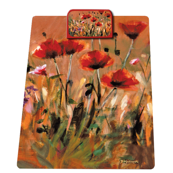 Poppies Clipboard | Southwest Art Tucson | Madaras Gallery