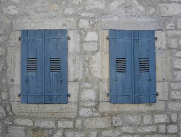 two blue shutters france