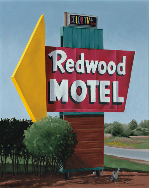 Roadside Attraction | Nostalgic Motel Sign | US Hwy 14 Wisconsin