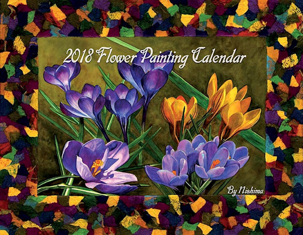 2018 Flower Paintings Calendar