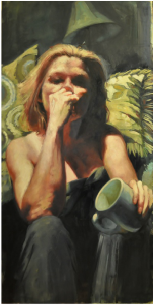 Shop for original paintings like Self, oil on canvas by Jude Harzer at Matt McLeod Fine Art Gallery.