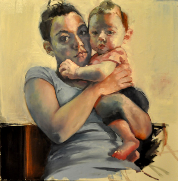 Shop for original paintings like Young Madonna, oil on canvas by Jude Harzer at Matt McLeod Fine Art Gallery.