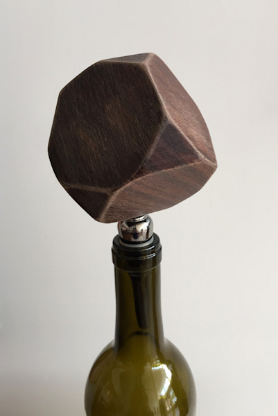 Shop for original Wood-Works like the prismatic wine stopper, by Jude Harzer at Matt McLeod Fine Art Gallery.