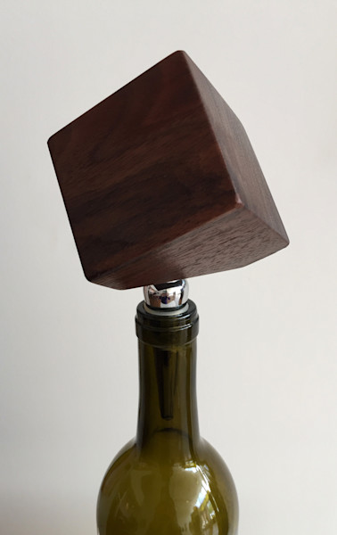 Shop for original Wood-Works like the geometric block wine stopper, by Jude Harzer at Matt McLeod Fine Art Gallery.