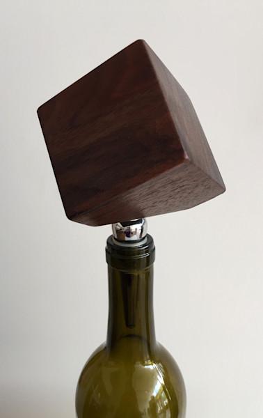 Shop for original Wood-Works like the geometric block wine stopper, by Jude Harzer at Matt McLeod Fine Art Gallery.
