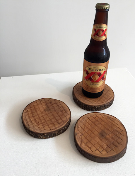 Shop for original Wood-Works like the stump coasters, by Jude Harzer at Matt McLeod Fine Art Gallery.