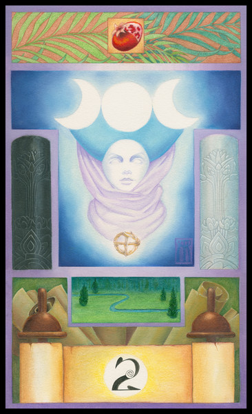 Beautiful Drawing of the High Priestess to decorate your Pagan altar!   Melissa Benson Illustration. The High Priestess is Key 2