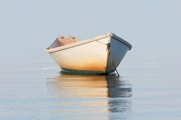 """Nantucket Weathered Dory"" Fine Art Nautical Rowboat Photography"
