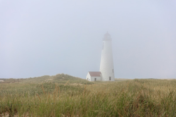 """Great Point Lighthouse in Fog"" Fine Art Nantucket Photography"