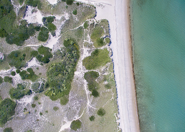 """Over Jetties Beach"" Fine Art Nantucket Aerial Photography"