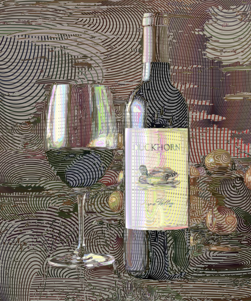 Duckhorn Wine, Napa Valley, California, USA.  Prints, canvas, posters by Peter McClard at VectorArtLabs.com