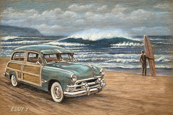 Wood Postcards | Woody Surfer