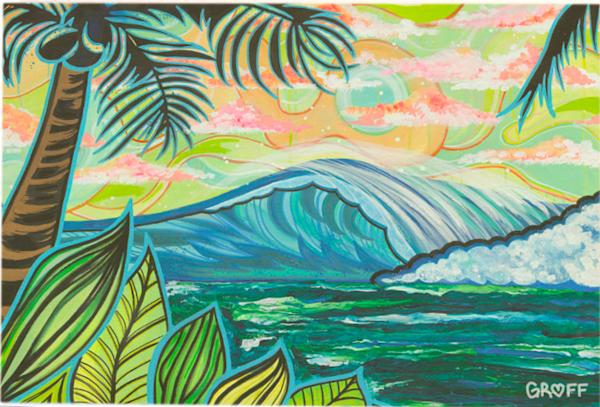 Birchwood Postcards   Palm and Wave