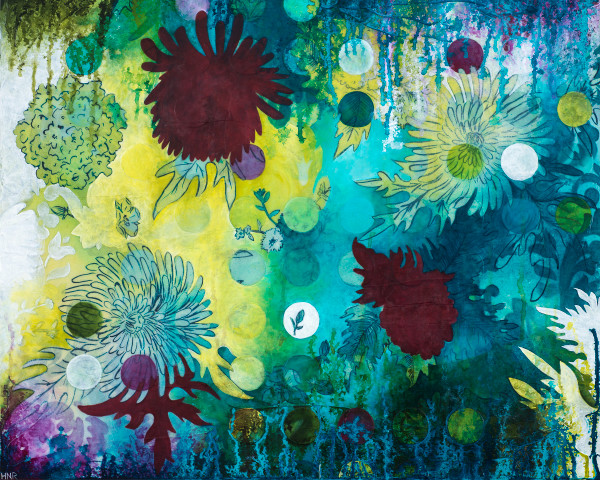 Dot Underwater Wildflowers, a fine art print by Heather Robinson