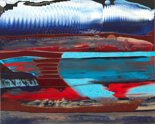 Sand Dunes meet Interplanetary Landscape art prints