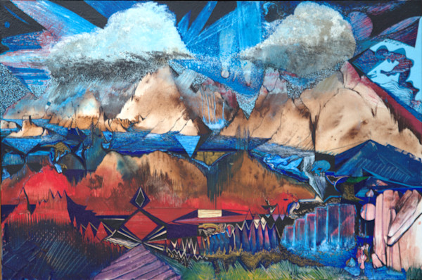Rapture mountainscape landscape print