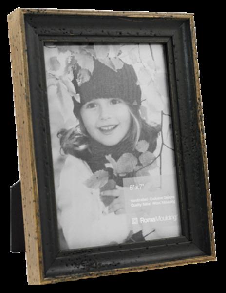 5x7 Rustic Black Photo Frame