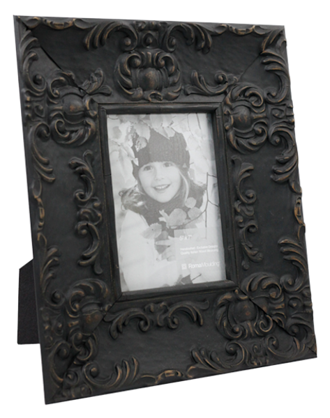 5x7 Country Black Photo Frame
