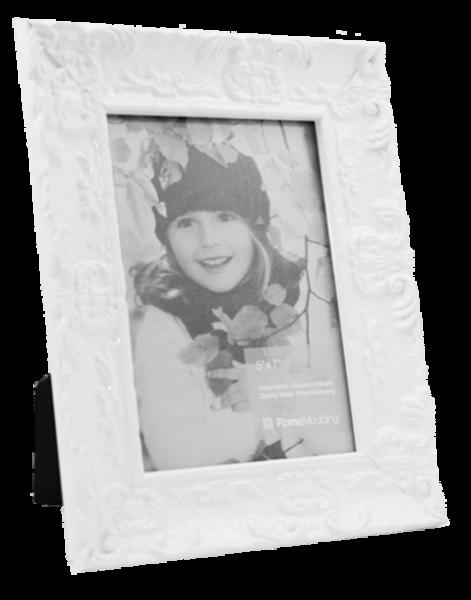 5x7 Electric White Photo Frame