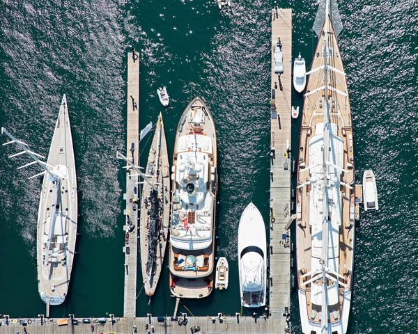 """Newport Yachts at the Dock"" Newport RI Nautical Photography"