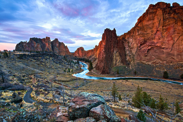 Sunrise Smith Rock (131042LNND8) Fine Art Photograph for Sale as Print