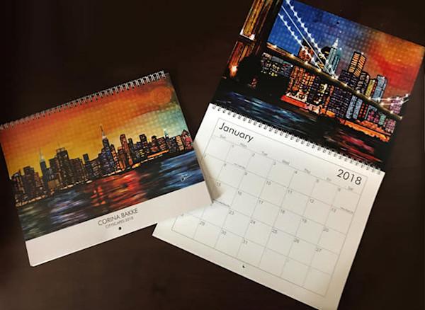 2018 Cityscape Art Calendar Hand Signed By The Artist Corina Bakke