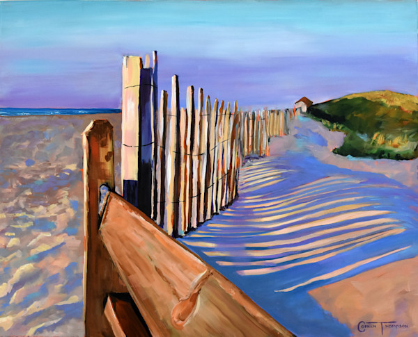 A reproduction of original watercolor and acrylic paintings of Florida's ocean views.