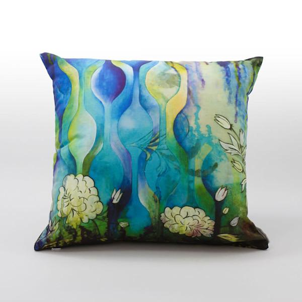Pond Ripples Art Pillow - Heather Robinson Fine Art
