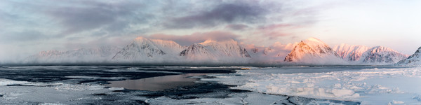Evening Mountains of Svalbard
