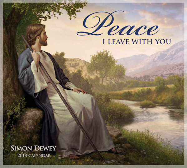 2018 Simon Dewey Calendar - Peace I Leave With You