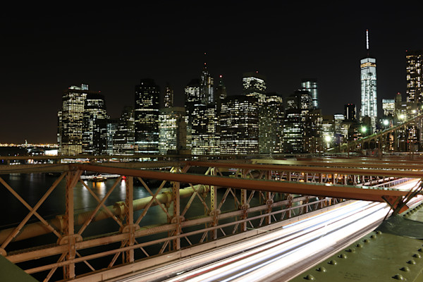 Brooklyn Bridge with Freedom Tower photograph by Steven Archdeacon