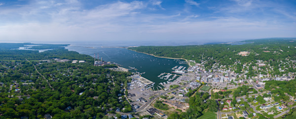 BEST aerial photograph of Port Jefferson, NY Harbor from drone by Steven Archdeacon.