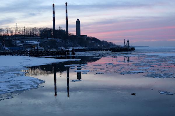 Nature and Landscape Photograph of Port Jefferson Harbor by Steven Archdeacon.