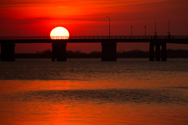 Sunset at Smith's Point Beach on Long Island, NY by Steven Archdeacon