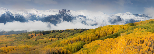 Castle In The Clouds Panorama fine art photograph by Mike Jensen