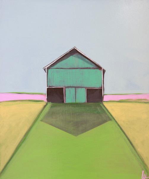 lesli devito colorful barn print